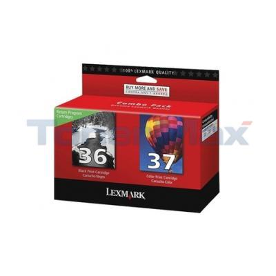 LEXMARK NO 36 37 RP PRINT CTG CMYK COMBO PACK